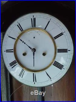 1,23 metre pendule murale HELLMUTH NURNBERG horloge WALL CLOCK 2 weight 19 EME