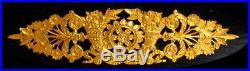 1er Empire 2 Cygnes 4 Cornes Abondance GLOBE Cartel Pendule bronze Fonctionne