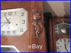 Ancien Carillon Odo Pendule A Restaurer Jus De Grenier Raisin 10 Tiges Marteaux