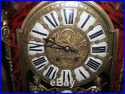 Ancien Cartel Pendule Marqueterie Boulle Bronze Martinot Paris