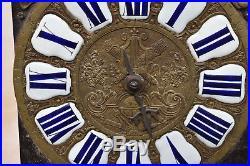 ANCIEN MOUVEMENT DE COMTOISE à CARTOUCHE XVIII eme 1 AIGUILLE
