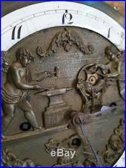 ANCIENNE PENDULE AUTOMATE ep. Restauration 1830 vienne Autriche austrian clock