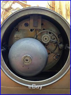 Ancienne Pendule Epoque Napoleon III Bronze Doré Old Clock Pendule No Regule
