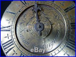 Ancienne Pendulette Dite Capucine 1 Aiguille Sarazin A Avignon Debut 18 Eme