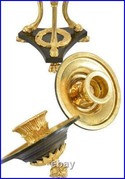 ATHENIENNES Kaminuhr Empire clock bronze horloge cartel pendule bougeoir