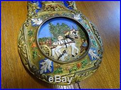 Ancien Balancier De Comtoise Automate Animé Horloge Old Clock