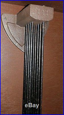 Ancien Carillon Horloge Lora ODO 11 Marteaux 10 Tiges Gros Rouleau Numéro 24