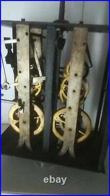 Ancien GRAND Mouvement Comtoise Horloge Clock Uhr Orologio Relog Relogio XXL