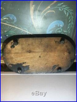 Ancien Globe en verre de mariée / mariage, Pendule Horloge Cabinet de Curiosité