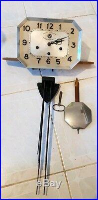 Ancien Mécanisme de Carillon 10 Tiges 10 Marteaux Westminster Horloge ArtDéco