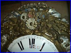 Ancien Mouvement Mécanisme De Comtoise Horloge Pendule Clock French Antique