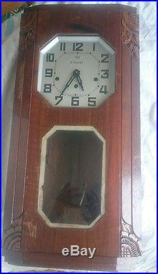 Ancien carillon horloge pendule ODO 8 MARTEAUX 8TIGES N36
