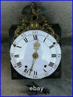 Ancien mouvement au coq COMTOISE echappement arriere horloge uhr clock