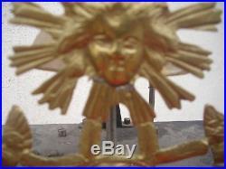 Ancien mouvement d'horloge au soleil pendule comtoise 18 ème