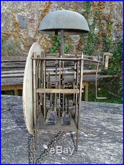 Ancien mouvement d'horloge lanterne mécanisme fin 18 début 19è