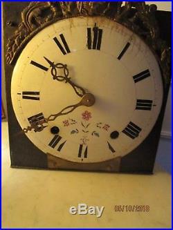 Ancien mouvement horloge comtoise. Coq. 18éme
