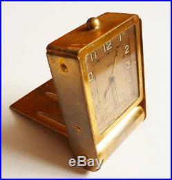 Ancien réveil pendulette de voyage JAEGER 8 jours Swiss pendule clock reloj