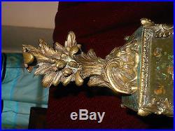 Ancien tres grand cartel louis 15 avec sa console bronze dore empire cartouches