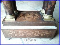 Ancienne Grande Pendule Portique Colonne Charle X/horloge/a Restaurer Vincenti