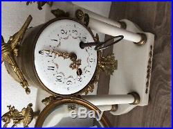 Ancienne Horloge en marbre/ garniture/ XIXe