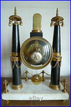 Ancienne Pendule Directoire Retour D'egypte Epoque XVIII / XIX Siecle