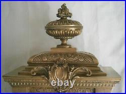 Ancienne Pendule En Bronze Renaissance French Antique