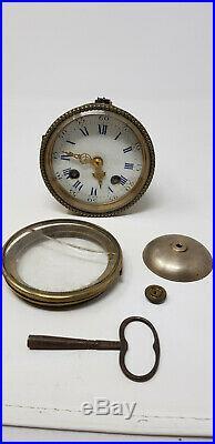 Ancienne Pendule Garniture En Faience De Gien