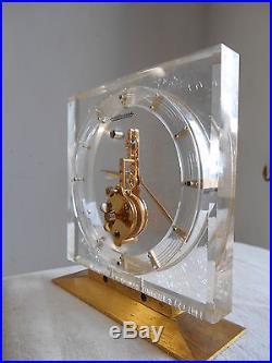 Ancienne Pendule Pendulette Squelette Art Deco Design 1960 JAEGER-LECOULTRE