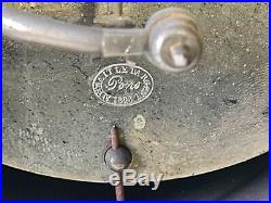 Ancienne Pendule Portique Colonne Acajou Bronze Epoque Restauration H 50 CM