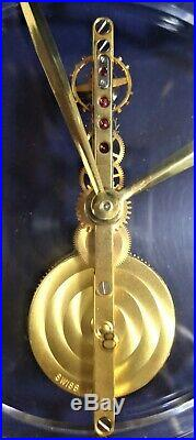 Ancienne Pendule Squelette Art Deco Design 1960/70 JAEGER-LECOULTRE