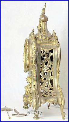 Ancienne Pendule XIX° Style Louis XV Bronze, Métal, Laiton