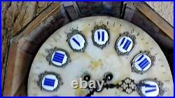 Ancienne joli pendule il de buf verre bombé chiffres émaillé Napoléon 3