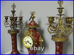 Ancienne pendule Garniture De cheminée XIXe