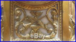 Ancienne pendule bronze doré fin 19e style louis XVI napoleon III mantel clock