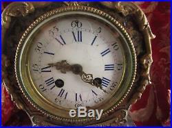 Ancienne pendule cartel style boule marqueterie 19e napoleon III mantel clock