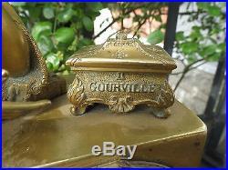 Ancienne pendule en bronze époque restauration GOURVILLE