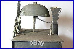 Ancienne pendule horloge comtoise décor soleil signé NAVAND XVIIIé ref 543
