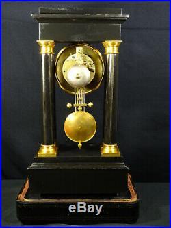 Ancienne pendule portique d'époque Napoléon III XIXème, gantry clock