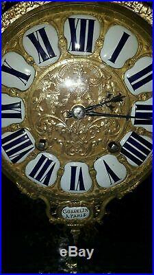 Antique Cartel Boulle clock 18th century