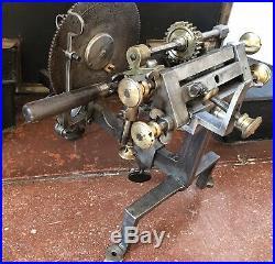 Antique Wheel Cutting Machine Watchmaker Divideur Topping Tool Lathe