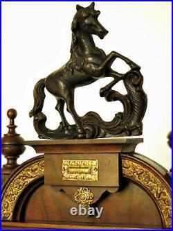 Antique pendule JUNGHANS decors bronze wood clock collection