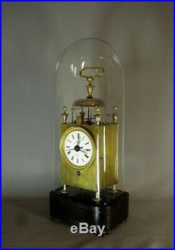 BELLE PENDULE CAPUCINE REVEIL, VERS 1820-1830, MOUVEMENT A FIL, ou D' OFFICIER