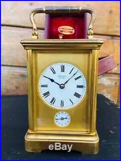 BREGUET N°1647 Rare Pendule De Voyage Officier Repetition Des Quarts Pendulette