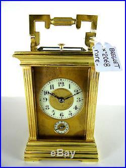 BREGUET PENDULETTE D'OFFICIER SONNERIE A LA DEMANDE ET PASSAGE + REVEIL 1840