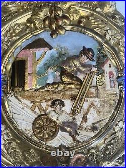 Balancier Automate D'horloge Comtoise La Culture Le Scieur Comtoise Uhr Pendel