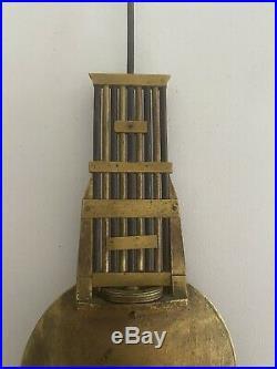 Balancier De Pendule Horloge Empire Au Couteau Avec Son Support Clock Uhr