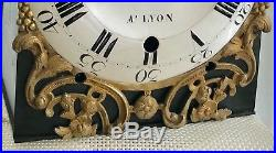 Beau Horloge Comtoise Trois Cloches