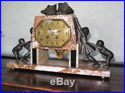 Belle pendule Art Deco 1920 / 1930 clock collection garniture 3 pièces