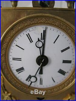 Belle petite capucine 19 ème /pendulette d'officier /pendule de voyage