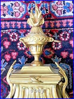 CARTEL d'applique XVIIIe BRONZE doré, cadran et mouvement signés VIGER à PARIS
